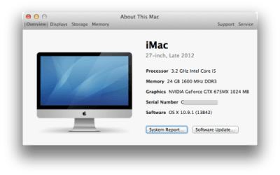 Apple Mac System Information