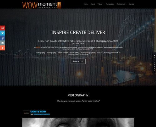 WOW moment productions website by Nerd Work